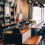 Bar of a restaurant