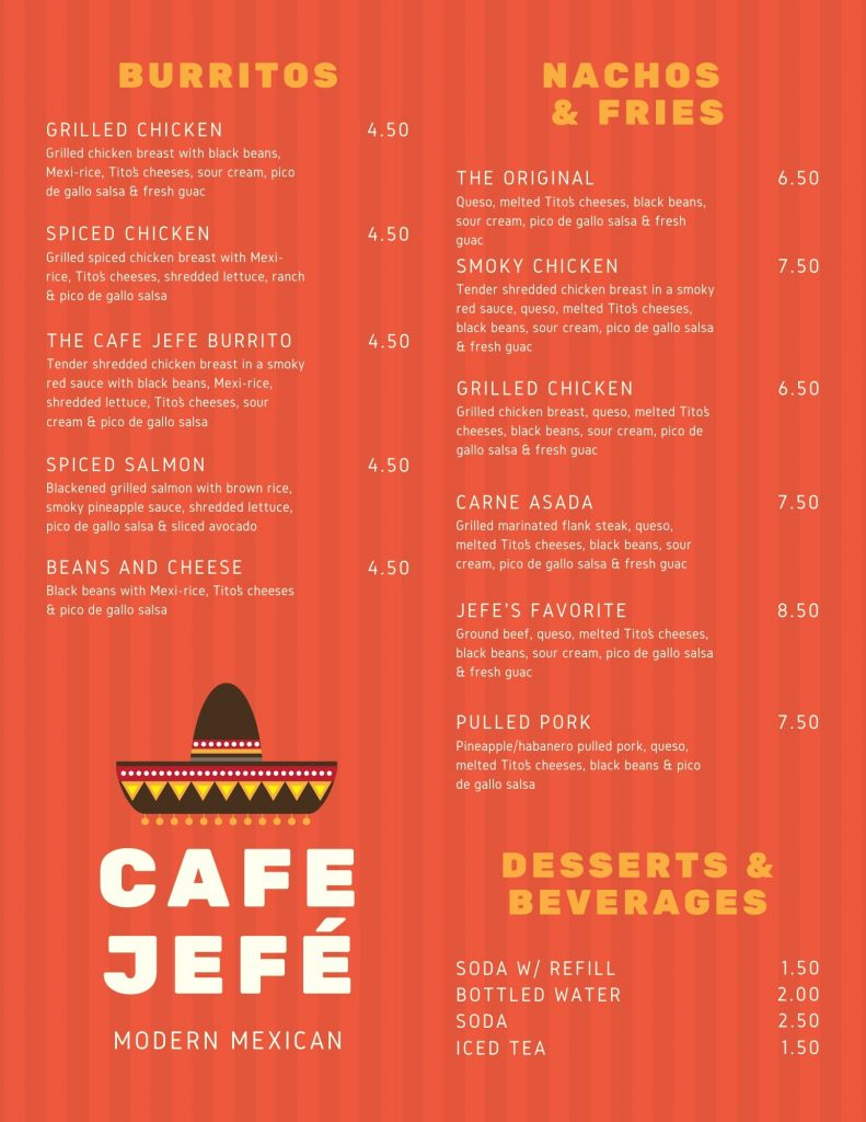 Red menu